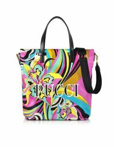Emilio Pucci Designer Handbags, Signature Printed Canvas Tote Bag