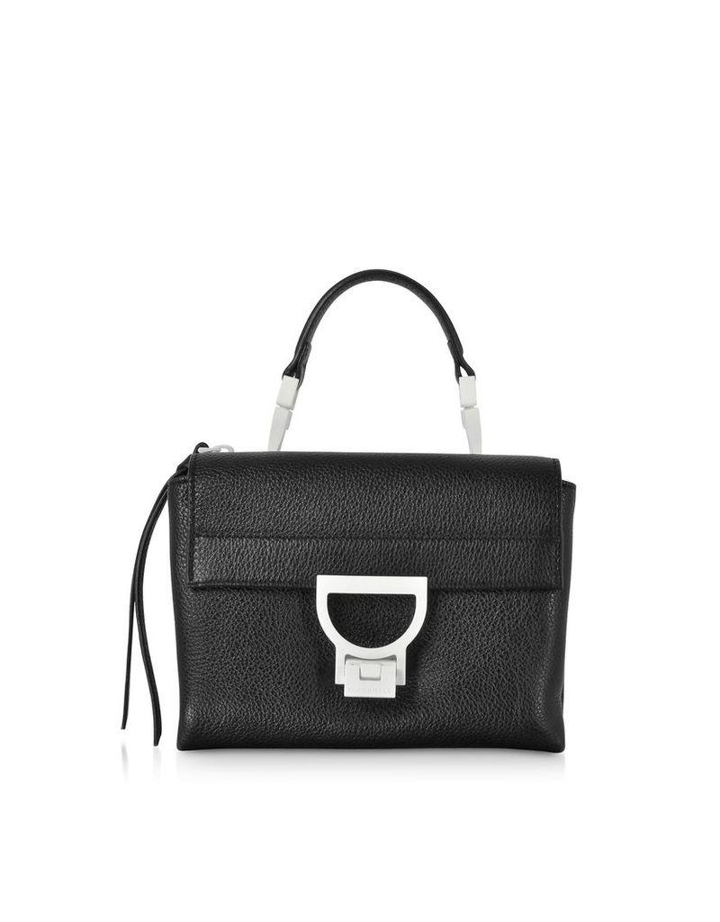 Coccinelle Designer Handbags, Arlettis Sporty Black Leather Shoulder Bag
