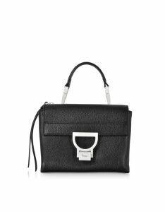 Coccinelle Designer Handbags, Arlettis Sporty Black Leather Shoulder Bag