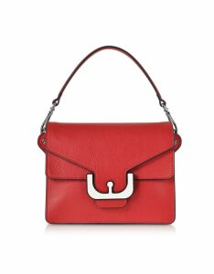 Coccinelle Designer Handbags, Ambrine Graphic Leather Crossbody Bag w/Canvas Strap