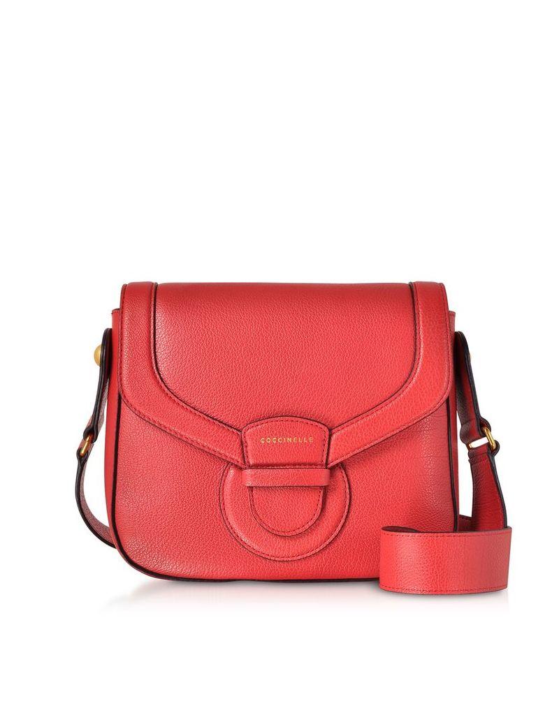 Coccinelle Designer Handbags, Vega Medium Leather Shoulder Bag