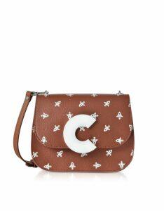 Coccinelle Designer Handbags, Craquante Razzo Printed Leather Shoulder Bag