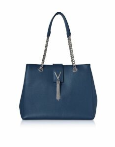 Valentino by Mario Valentino Designer Handbags, Lizard Embossed Eco Leather Divina Tote Bag