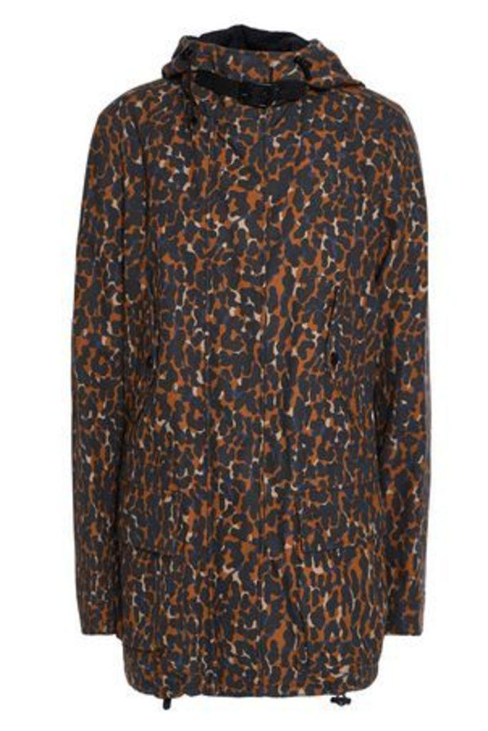 Belstaff Woman Waycott Printed Cotton-canvas Hooded Jacket Light Brown Size 40