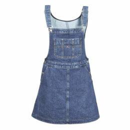 Tommy Jeans  TJW A LINE DUNGAREE DRESS  women's Dress in Blue