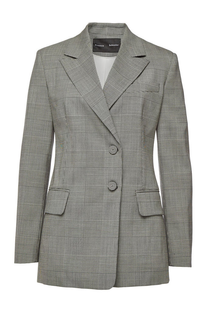 Proenza Schouler Plaid Wool Blazer