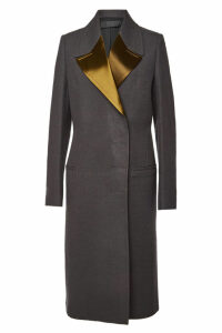 Haider Ackermann Wool Coat with Satin Lapels