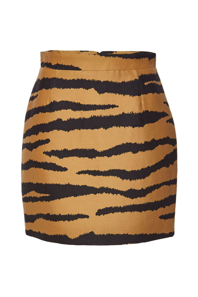 Proenza Schouler Printed Wool Skirt with Silk