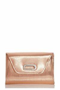 Quiz Rose Gold Oval Trim Bag
