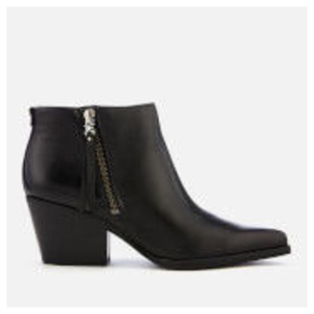 Sam Edelman Women's Walden Modena Leather Heeled Ankle Boots - Black
