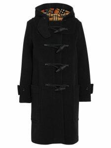 Burberry Wool Blend Duffle Coat - Black