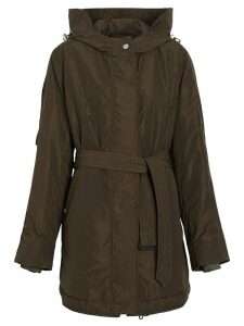 Burberry Shape-memory Taffeta Hooded Parka - Green