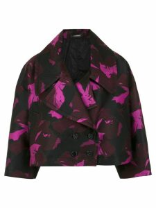 À La Garçonne floral jacquard cropped coat - Pink
