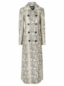 Kwaidan Editions snake effect long coat - Neutrals