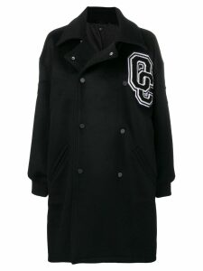 Opening Ceremony double breasted logo coat - Black