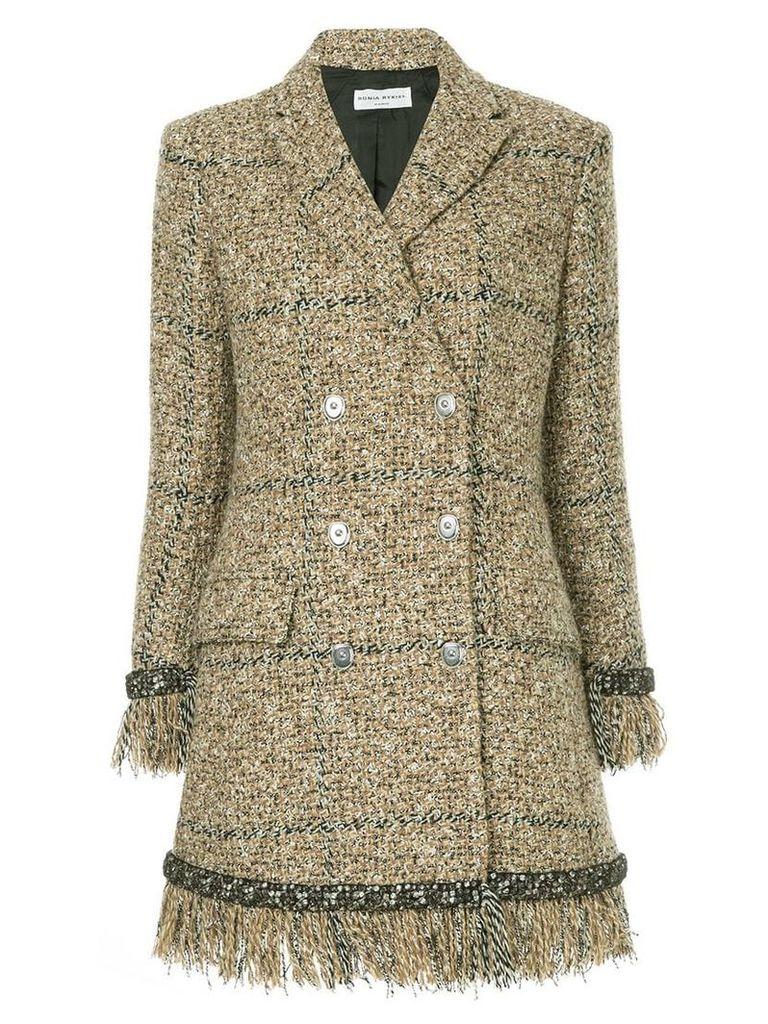 Sonia Rykiel double-breasted tweed coat - Brown