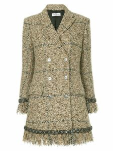 Sonia Rykiel double-breasted tweed coat - Brown