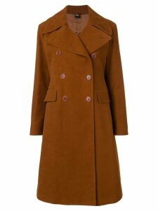Aspesi double-breasted coat - Brown
