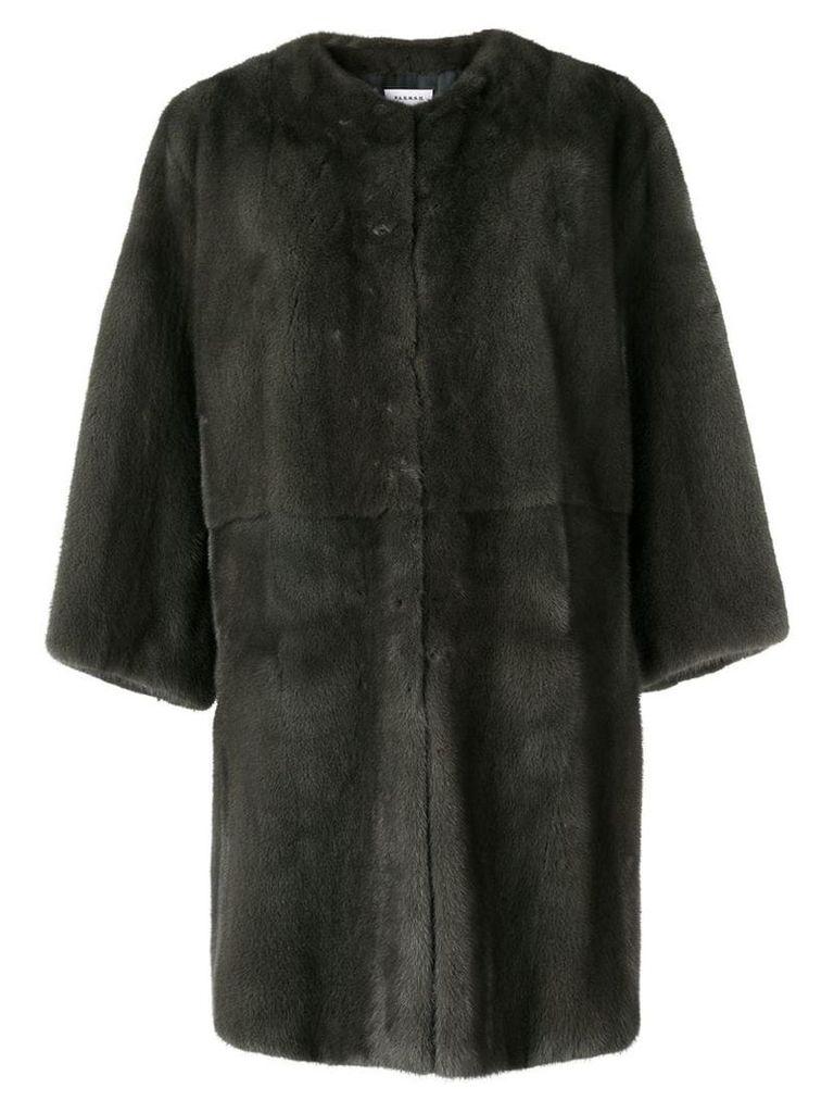 P.A.R.O.S.H. Quinter fur coat - Grey
