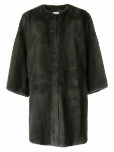 P.A.R.O.S.H. Quinter fur coat - Grey