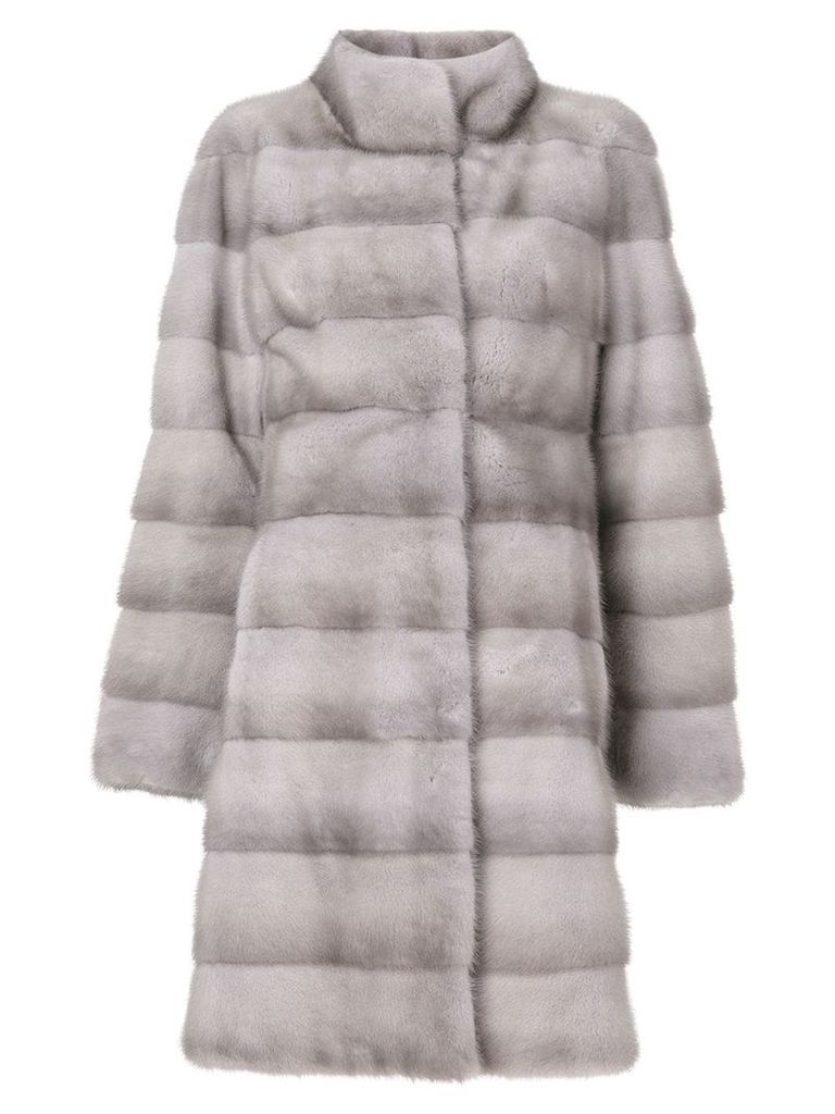 Liska fur mid-length coat - Grey