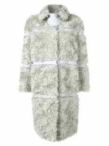 Bottega Veneta faux fur panelled coat - Grey