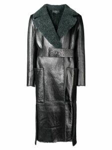 Salvatore Ferragamo metallic belted coat