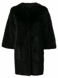 Liska ribbed coat - Black