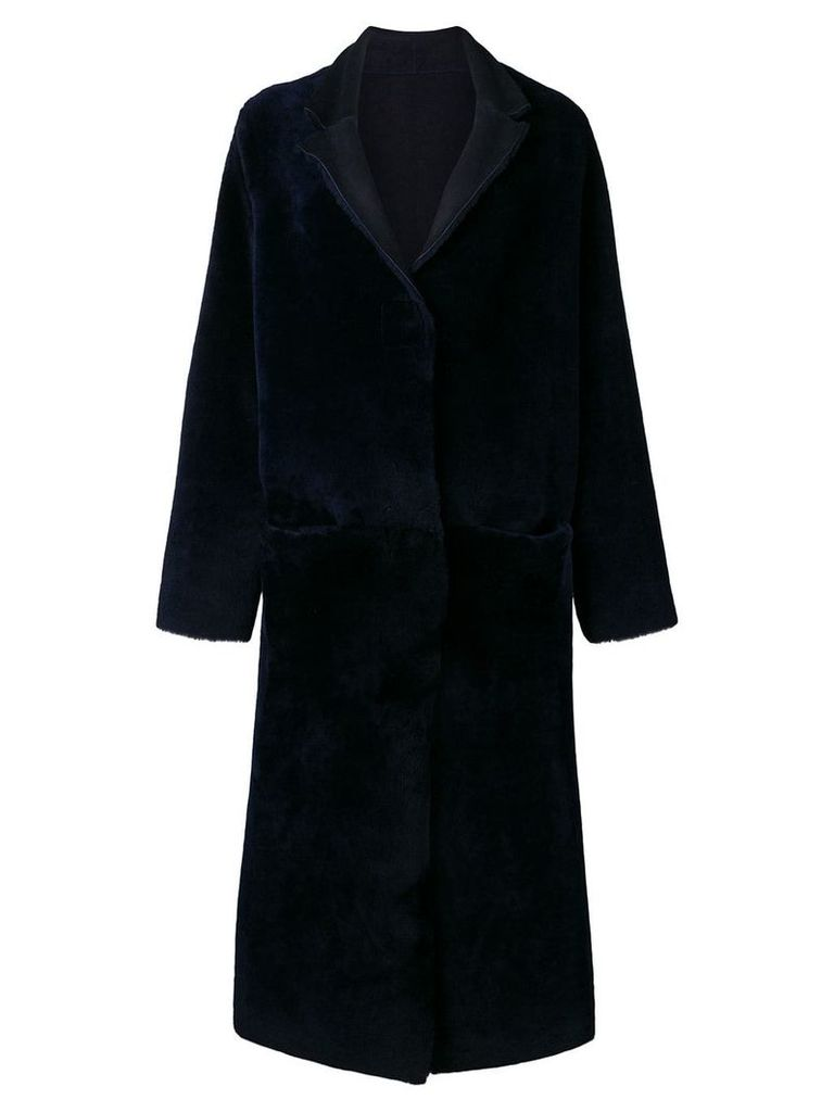 Liska reversible long coat - Blue