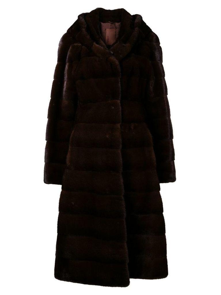Liska Valencia hooded coat - Brown