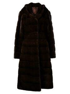 Liska Valencia hooded coat - Brown