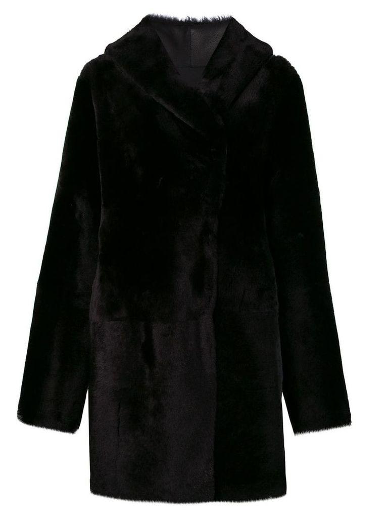 Sylvie Schimmel Cortina teddy coat - Black