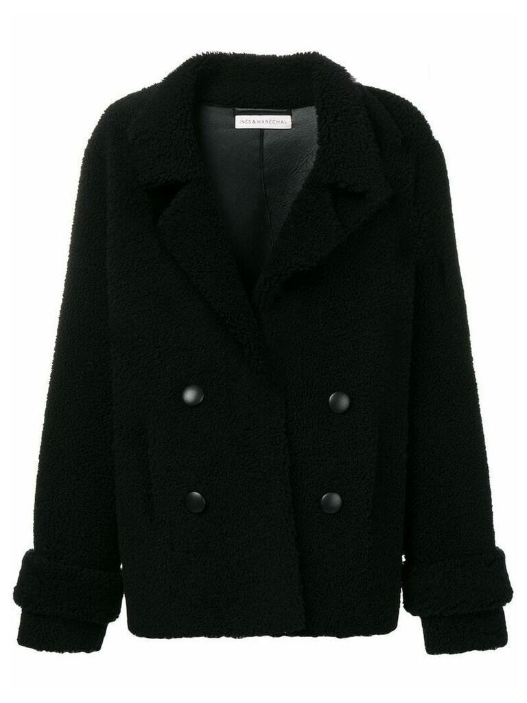 Inès & Maréchal double-breasted shearling coat - Black