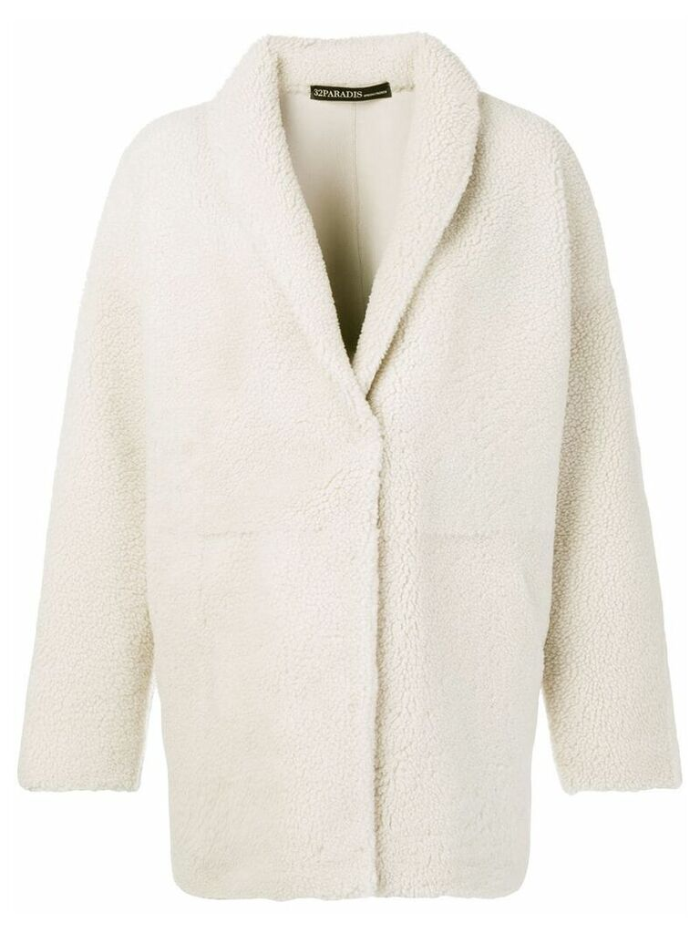 32 Paradis Sprung Frères shearling coat - Neutrals