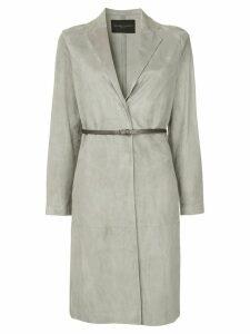 Fabiana Filippi belted midi coat - Grey