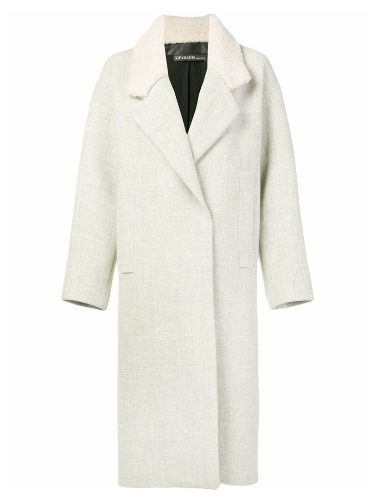 32 Paradis Sprung Frères oversized midi coat - Neutrals