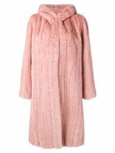 Liska hooded midi coat - Pink