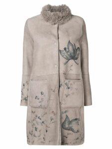 Manzoni 24 floral print coat - Neutrals