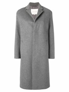 Mackintosh 0001 single breasted coat - Grey