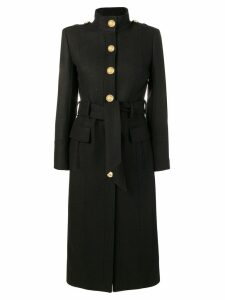 Balmain single breasted coat - Black