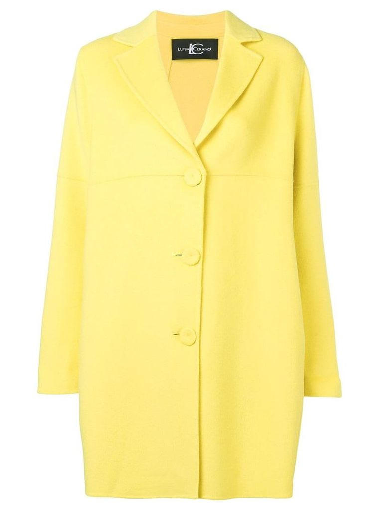 Luisa Cerano single-breasted coat - Yellow