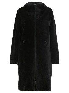 32 Paradis Sprung Frères high neck coat - Black