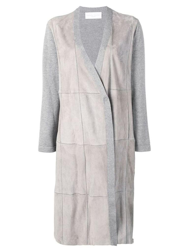 Fabiana Filippi suede panels coat - Grey
