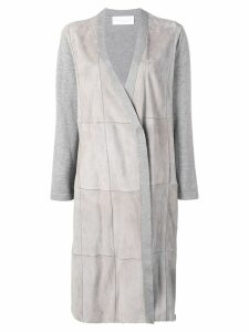 Fabiana Filippi suede panels coat - Grey