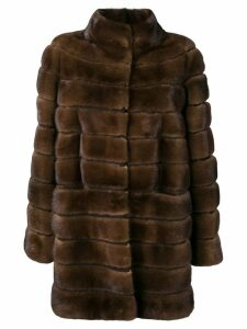 Liska fur midi coat - Brown