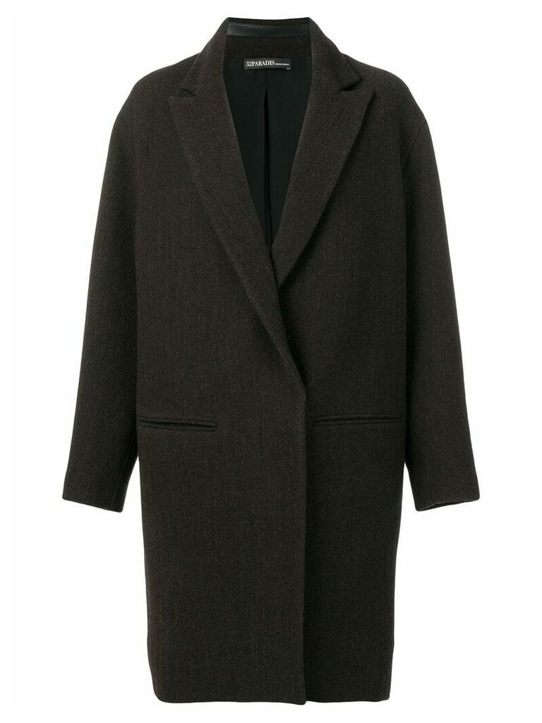 32 Paradis Sprung Frères single-breasted overcoat - Grey