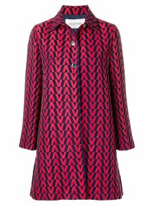 Valentino brocade coat - Red