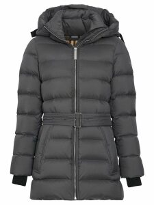 Burberry Down-filled Hooded Puffer Coat - Grey
