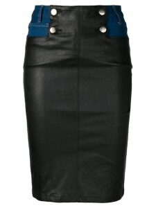 Each X Other leather panelled skirt - Blue