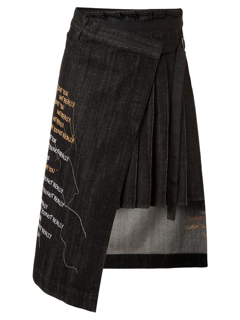 Haculla Hand over love wrap skirt - Black